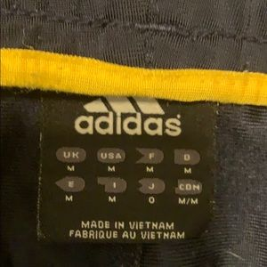 adidas Pants - Adidas yellow pinstriped men's Medium joggers